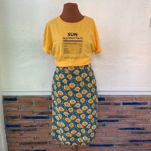 Vintage sunflower print skirt